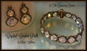 Crystal Garden Path Bracelet & Earrings - F